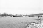 CREDIT RIVER, looking north to Lake Shore Road bridge (Port Credit)