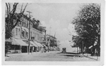 Brant Street, Burlington, Ont. -- view of one car travelling down street; postmarked August 10, 1921