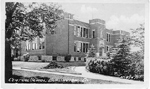Central School, Burlington, Ont -- Exterior, No. 4547; postmarked Aug 26, 1940