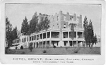 Hotel Brant, Burlington, Ontario, Canada -- Exterior, east end; postmarked October 28, 1913