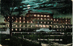 The Brant Hotel, Burlington Beach, Ont -- Exterior, night view; postmarked July 19, 1910