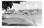 Brant Inn, Burlington, Ontario -- Exterior, parking lot and 2 children in left middleground