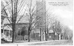 Elizabeth St., Burlington, Ont. -- Exteriors of 2 Churches and Town Hall; postmarked October 14, 1908