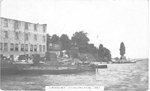Cannery, Burlington, Ont. -- Exterior: viewed from the water; postmarked July 14, 1914