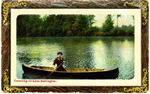 Canoeing on Lake Burlington -- Woman in canoe