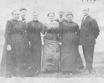 Filman Family -- Mrs. John Smale, Mrs. Oscar Robinson, Mrs. Joseph Burrows, Miss Mary Smale, Audrey Smale, Mrs. J. Filman, Mr. Will Smale, 1914
