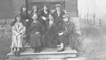 Job Family -- (L-R): D. Lemon, G. Sprung, E. Terry, L. Sovereign, Mrs. Job, B. Sinclair, M. Smale, 1924