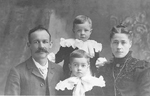 Lemon Family -- Mr. & Mrs. Allan Lemon with sons Frank and Clifford