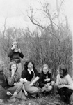 Girl Guides -- Mary Burton-Nicholson and Georgean Zimmerman with their Girl Guide troupe, view 2