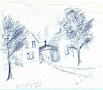 Holy Sepulchre Cemetery -- Cemetery in 1913, as illustrated by Edna Wickens