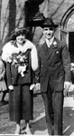 John Dudley Williamson -- Clara and Elliott Anderson on their wedding day (March 26, 1921), Methodist Church, Burlington