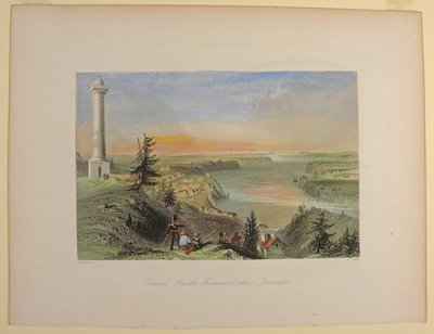 General Brock's Monument. Above Queenston. By R. Wallis