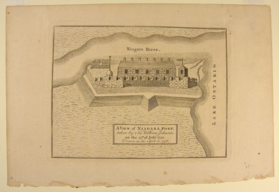 A View of Niagara Fort By Sir William Johnson