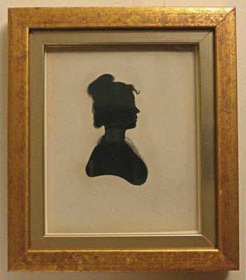 Silhouette of Anna Harrison