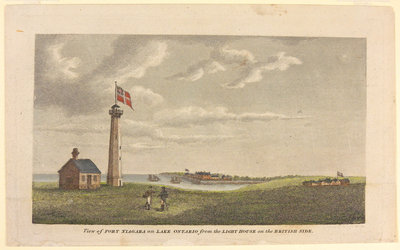 View of Fort Niagara on Lake Ontario from the Lighthouse on the British Side