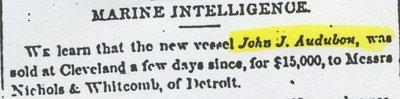 AUDUBON, JOHN  J. (1854, Brig)