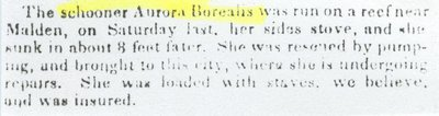 AURORA  BOREALIS (1835, Schooner)