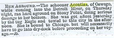 ACONTIAS (1856, Schooner)