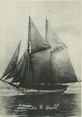 HALL, JAMES H. (1885, Schooner)