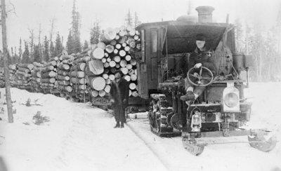 Tractor Log Train