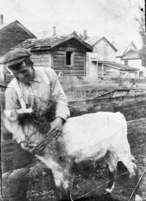 Arthur Linke with Calf