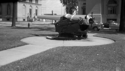 USS MAINE Cannon in front of City Hall