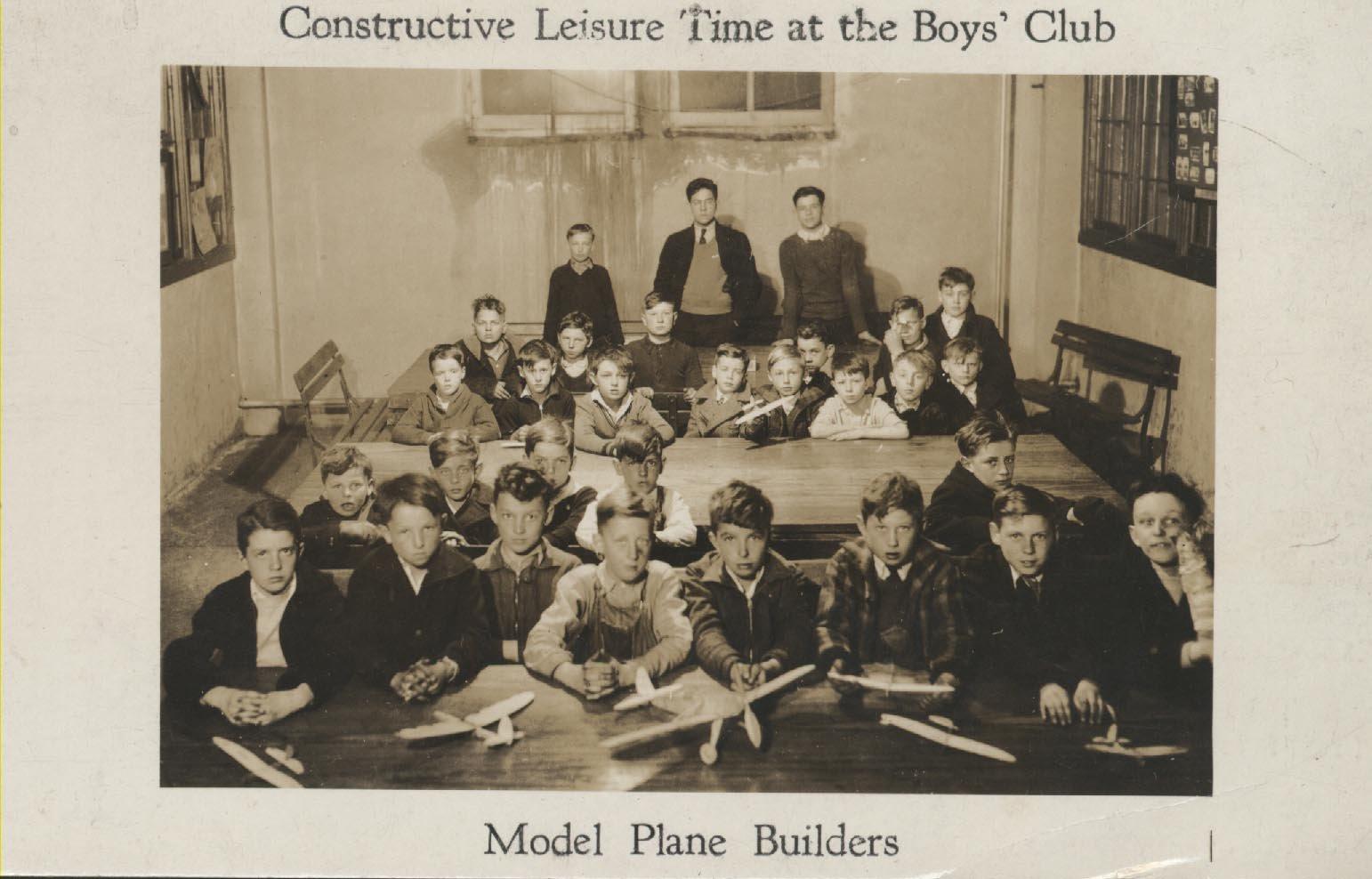 Boys' Club Model Plane Builders