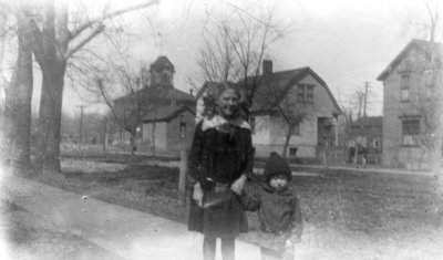 Lillian and Donald Hartlep near their home on Lockwood Street in Alpena, Michigan