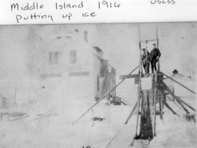Middle Island:  Gathering Ice Blocks