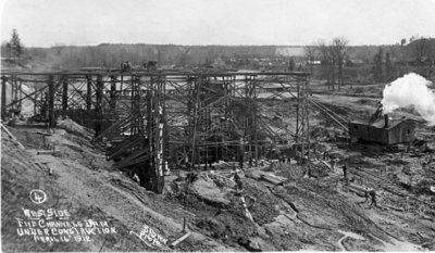 Building the Five Channels Dam on the AuSable River