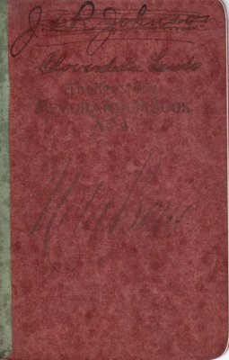 Cloverdale Land Account Book