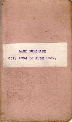 Henry K. Gustin's Land Purchase Record Book