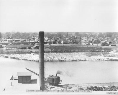 Above the Second Avenue Bridge on the Thunder Bay River in Alpena, Michigan