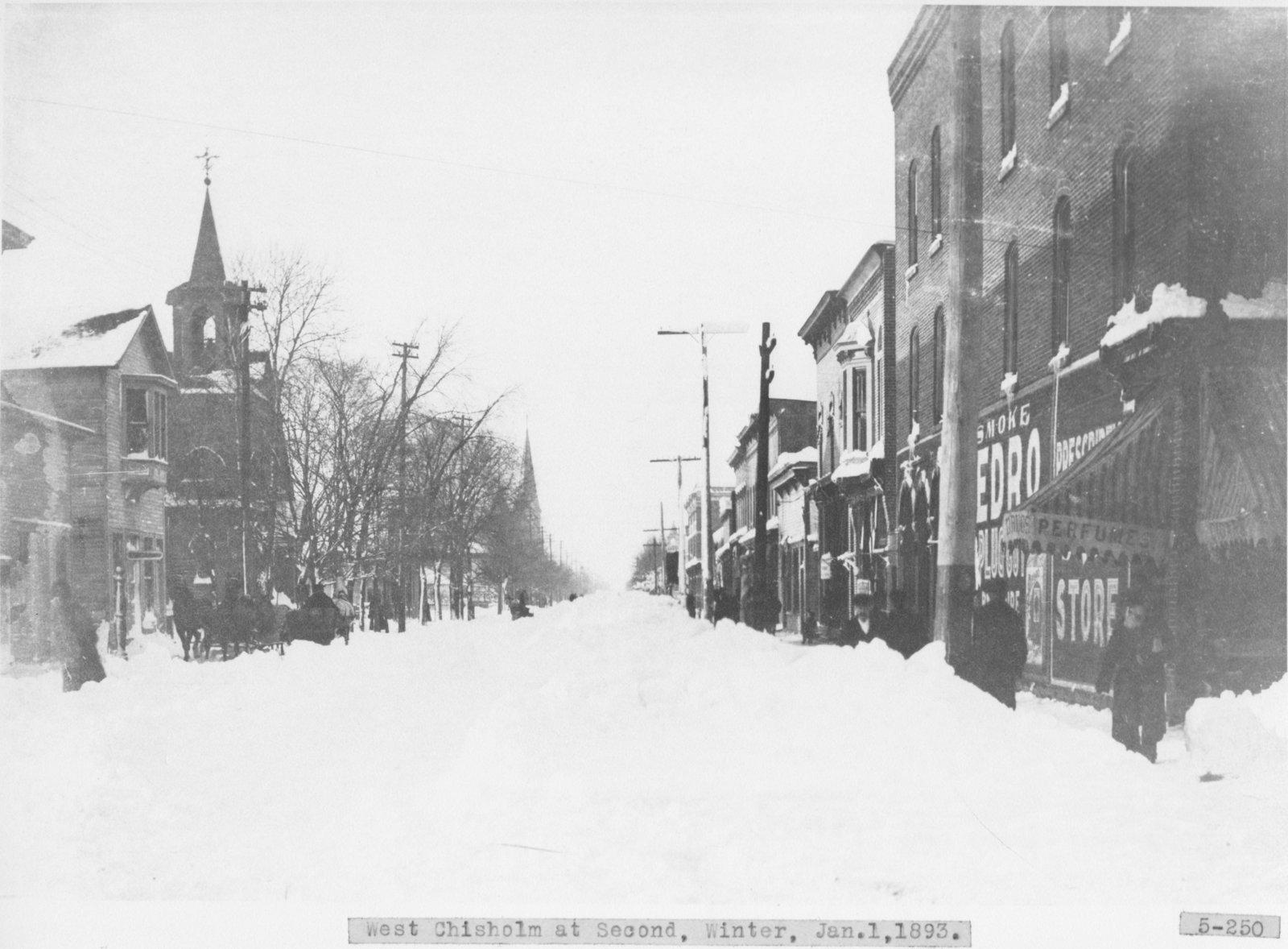 Downtown Alpena in Winter