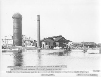 Harrington and Jenny Lumber Mill on Thunder Bay River