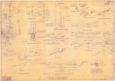 Details of Masts & Spars for 2-Mast Topsail Schooner