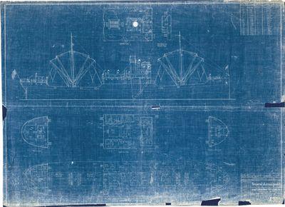 General Arrangement Plan for LAKE GADSDEN, Hull No. 105