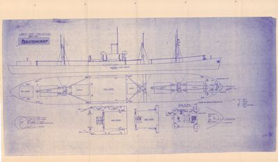 Outboard and Deck Plan for Liberty Ship EC2-S-C1