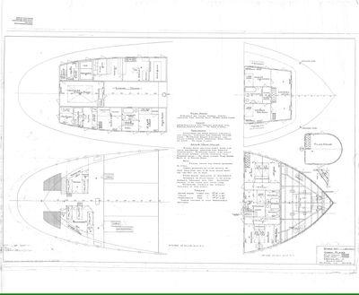 Cabin Plans of Steamer 60, 70, 71