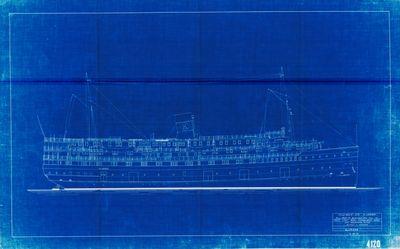 Outboard Profile Plan of ALABAMA, Hull No. 36