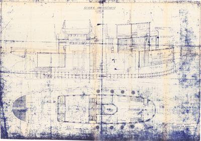 General Arrangement Plan of S.S. Tug 91