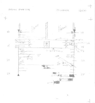 Archaeological Site Plan of Indian River Derrick Barge