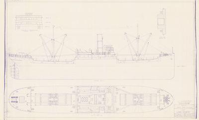 Hull Lines for U.S. Cargo Ship LAKE DANCEY (1918)