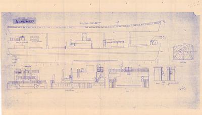 Profile View and General Arrangement of Liberty  Ship [EC 2-S-C1]