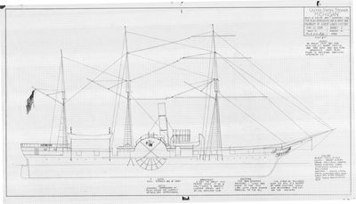 Outboard Profile of Steamer MICHIGAN (1843)