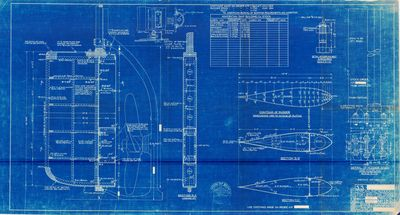 "Streamline Rudder Plans for 11-1/2"" to 12"" DIA. Stocks by American Ship Building Co."