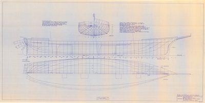 Hull Lines of Barkentine MARY STOCKTON (1853)