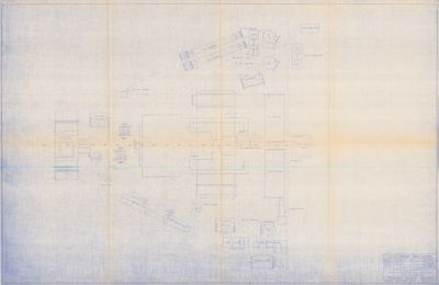 Machinery Layout Below Working Deck for B.H. TAYLOR, Hull No. 787 (1923)