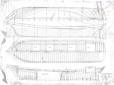 Lines & Construction Plans for Great Lakes Schooner by Jack B. Spicer