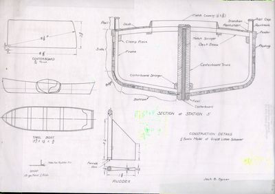Construction details for 1/4 scale Model of a Great Lakes Schooner by Jack B. Spicer